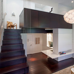Manhattan Micro Loft with Multi Level Interiors