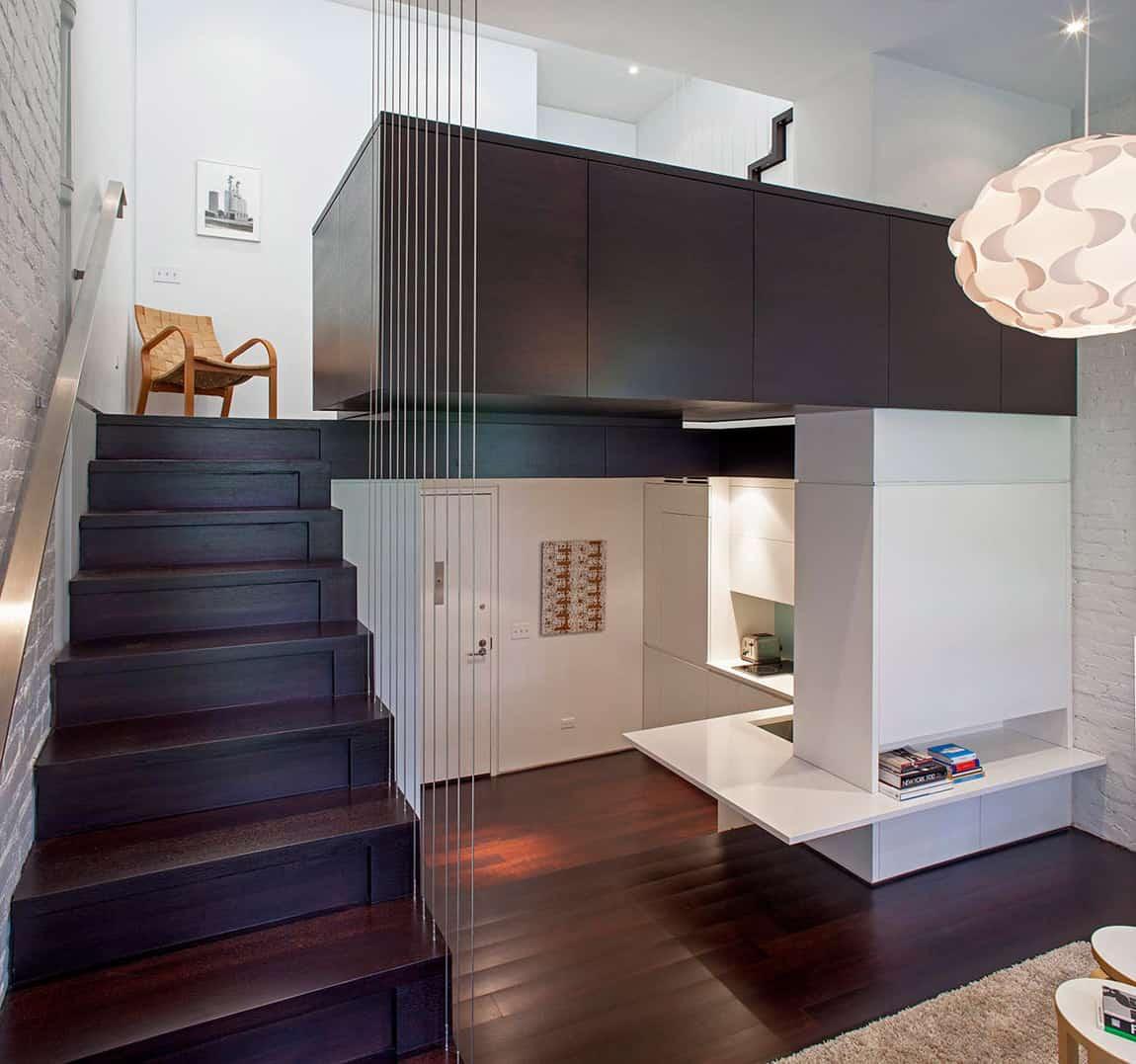 Manhattan Micro Loft with Multi Level Interiors