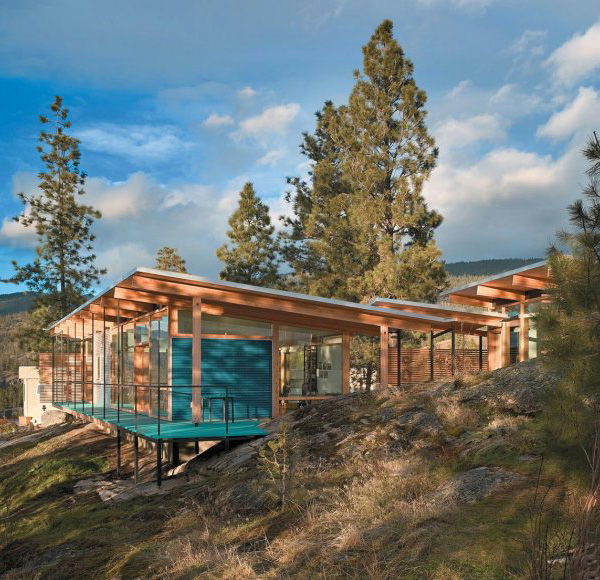 maurer residence 1 Modern Cabin in Canadian Rocky Mountains