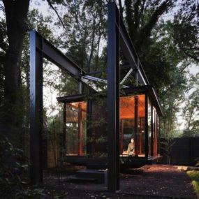 "Meditation House Plans: ""Floating"" Glass Home"