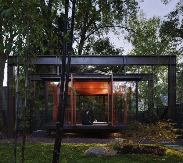 meditation house plans 2 Meditation House Plans: Floating Glass Home