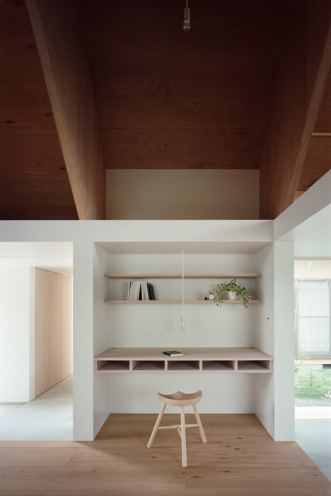 minimal extension adds chic usable space japanese home 7 ladder stairs