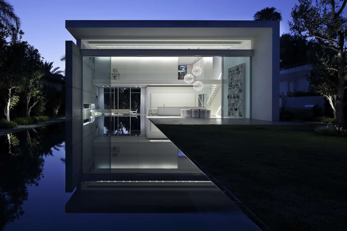 Minimal House With Hangar Style Rear Facade