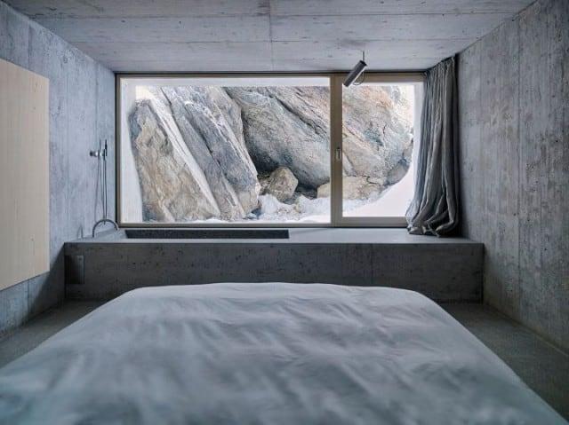 Minimalistic Concrete Alpine Cabin