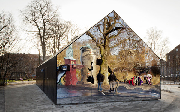 mirrored funhouse gets playful in copenhagen park 3 Mirror Walls House gets playful in Copenhagen park