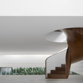 Modern Art Gallery House with Spiral Staircase Feature