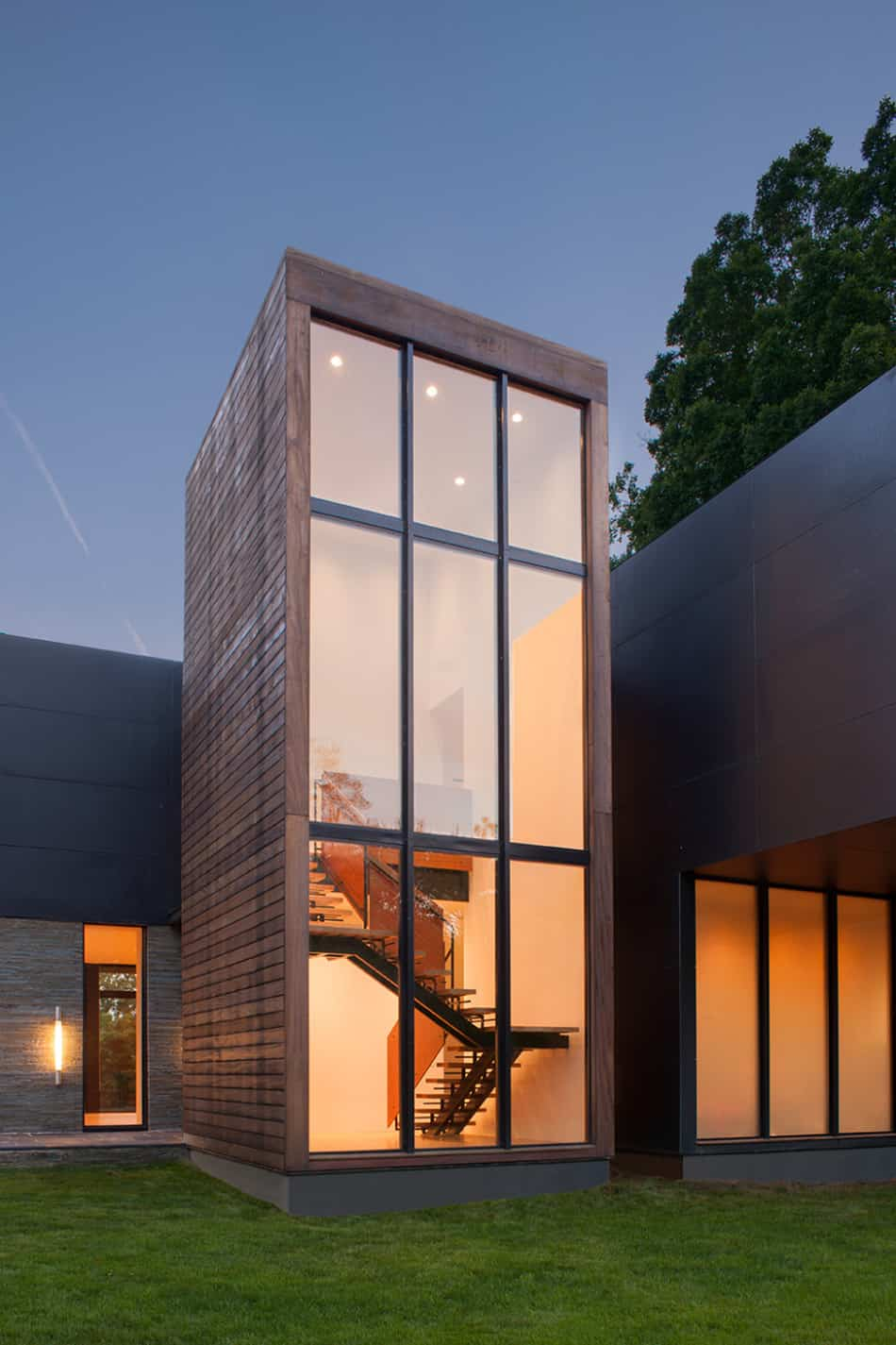 Modern Box House with Interior Glass Bridges | Modern ... on Glass House Design Ideas  id=45493