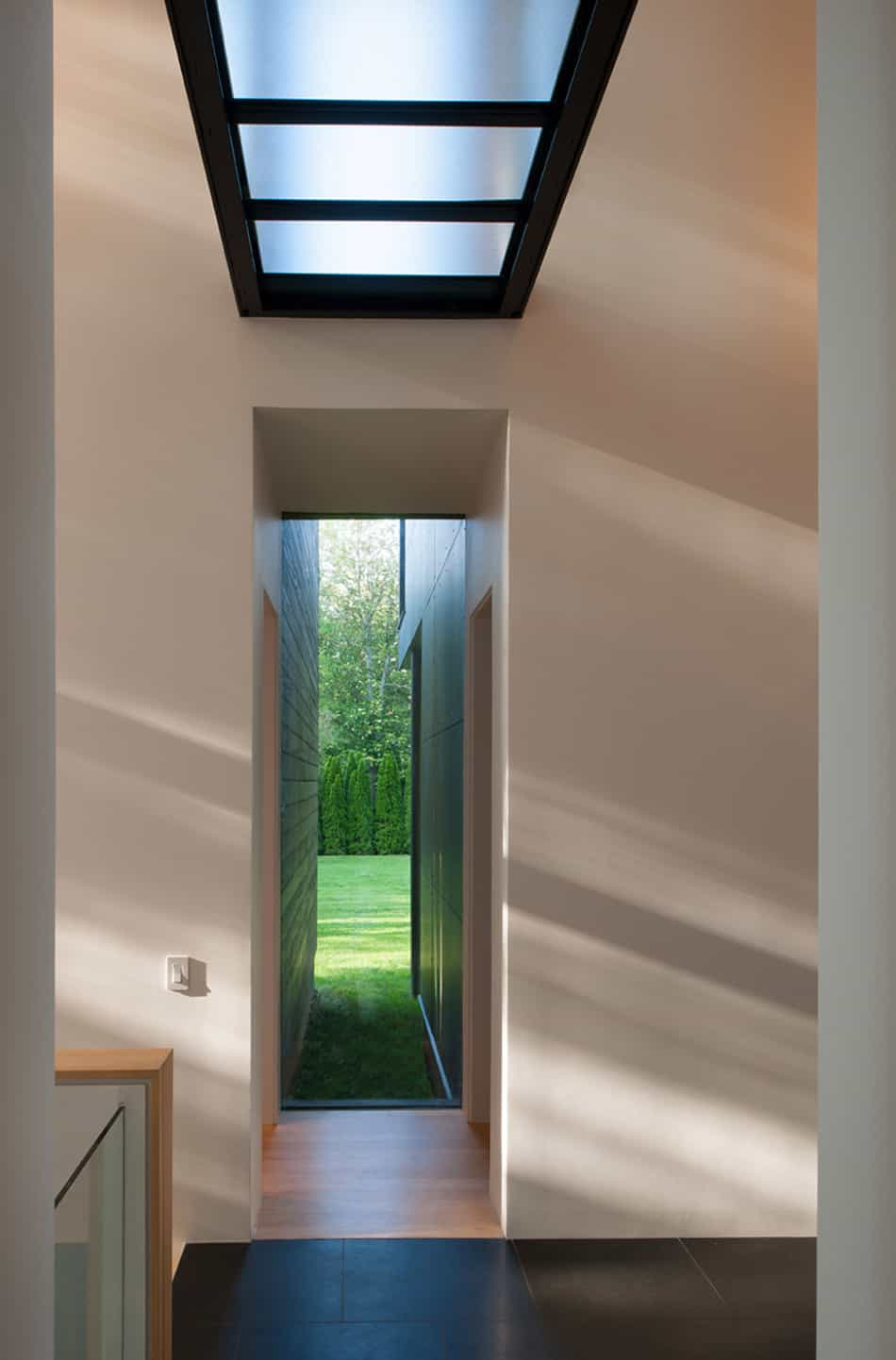 View in gallery modern box house with interior glass bridges 6