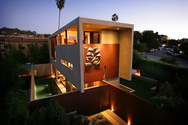 modern california architecture on a former brown field site