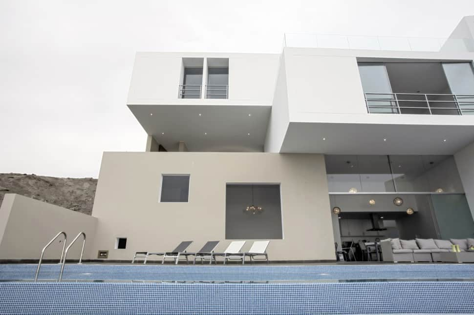 view in gallery modern geometric house design built around the view - Pop House Design