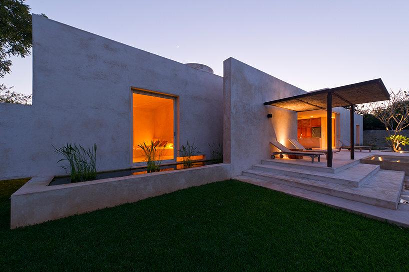Modern hacienda style guest house for Hacienda style lighting