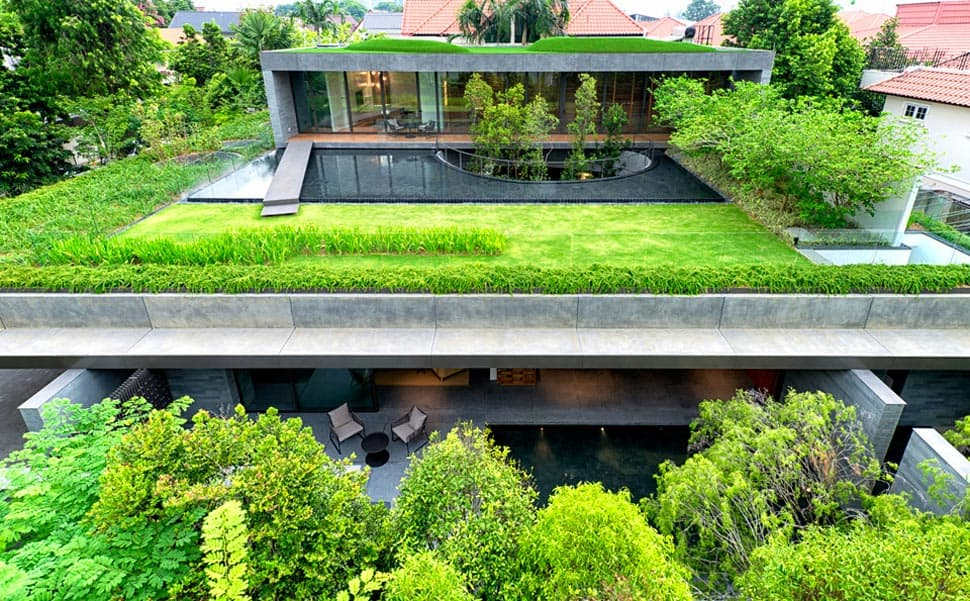 View in gallery modern house with underground courtyard and rooftop gardens 1 thumb 630x390 12778 home with underground courtyard