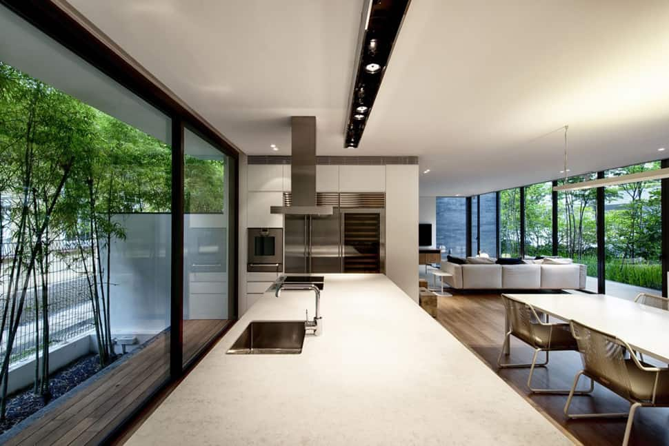 View in gallery modern house with underground courtyard and rooftop gardens