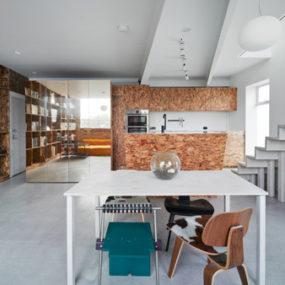 Modern Loft Living in Australia – oriented strand board charm!