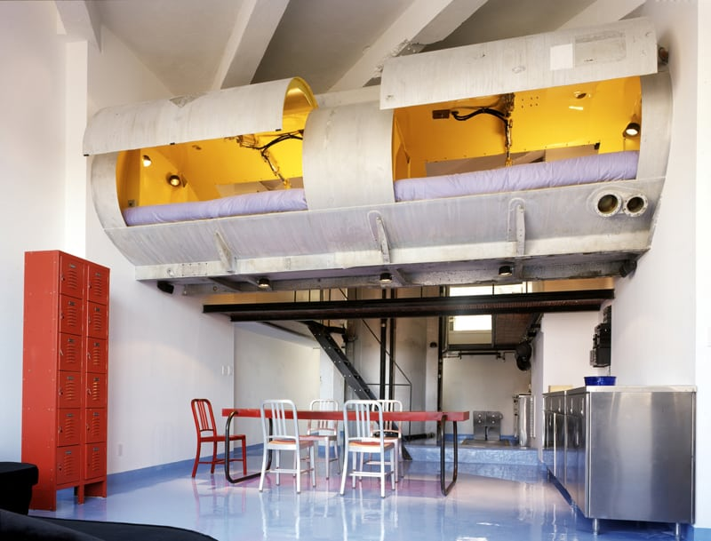 Modern Loft of Transformed Tankers and Fire Escape Stairs