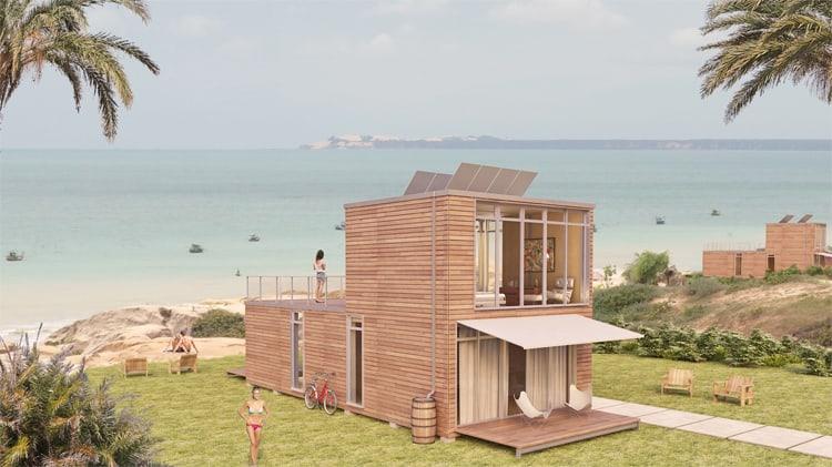 Luxury modular home by meka thor 960 for Prefab garden house