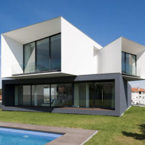 Modern Multi Level House in Portugal captures snapshots of its surroundings