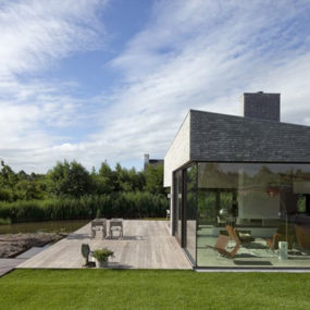 Nordic Villa with Glass Walls, Modern Interiors and More