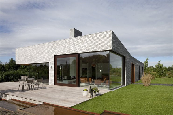 modern netherlands villa with glass walls 2 Nordic Villa with Glass Walls, Modern Interiors and More