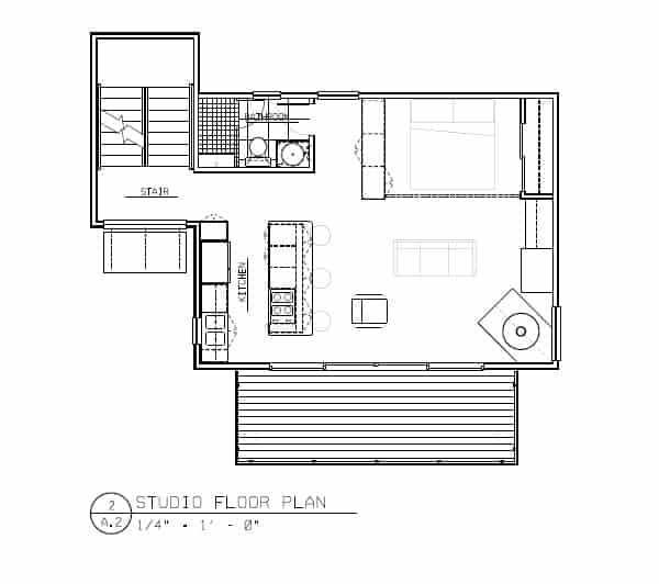 Studio Home Plans Simple Modern Studio House Plan In Rhode Islandnative Architect Inspiration Design