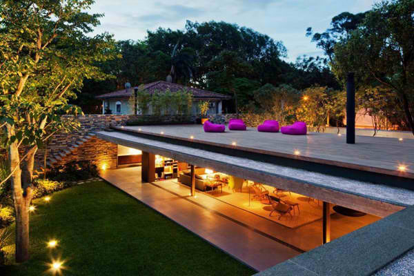 modern wallless house in brazil 1 Modern wall less house in Brazil: a simpler sense of style