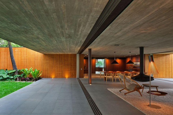 modern wallless house in brazil 2 Modern wall less house in Brazil: a simpler sense of style