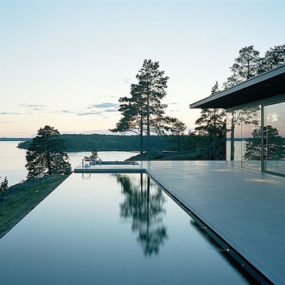 Modernist Swedish Architecture over Sea and Sun