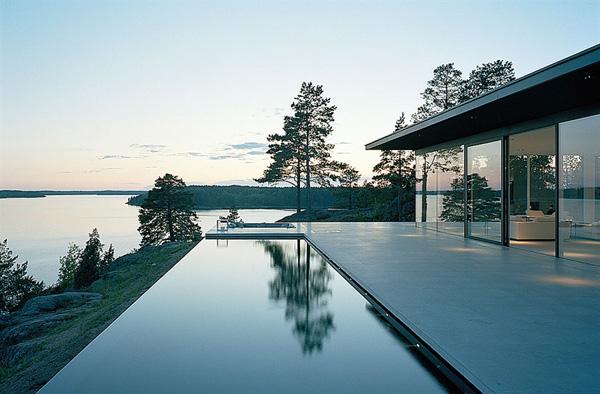Modernist Swedish Architecture over Sea and Sun