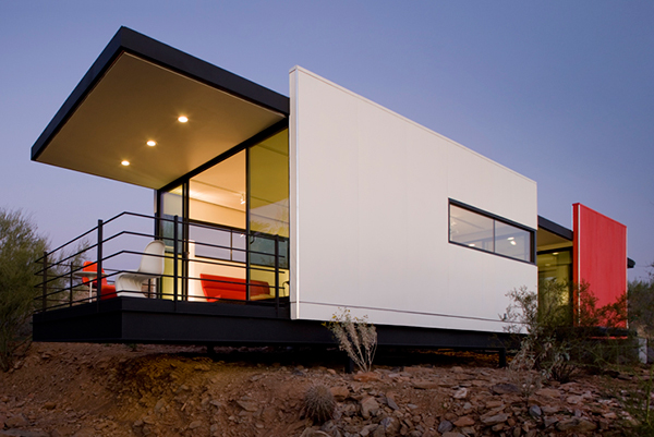 modfab 1 Prefab Desert Homes   modern sustainable prefab home