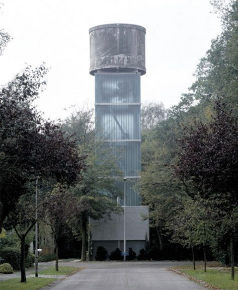 moereels house 1 Repurposed Water Tower, Now a Modern House in Belgium