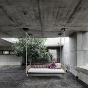 Concrete Bunker Like House is Monsoon-proof