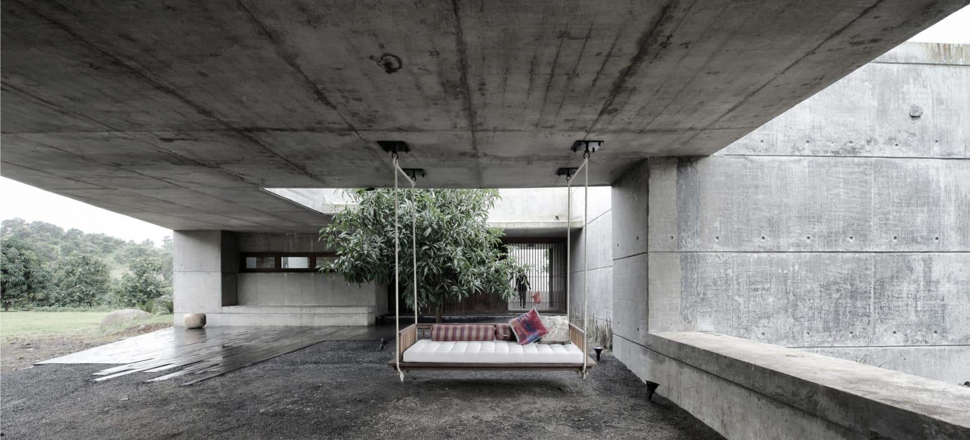 Concrete bunker like house is monsoon proof for Concrete house floor plans
