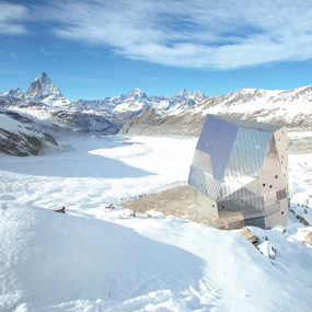 Sustainable Mountain Hut Design in the Swiss Alps, Monte Rosa area