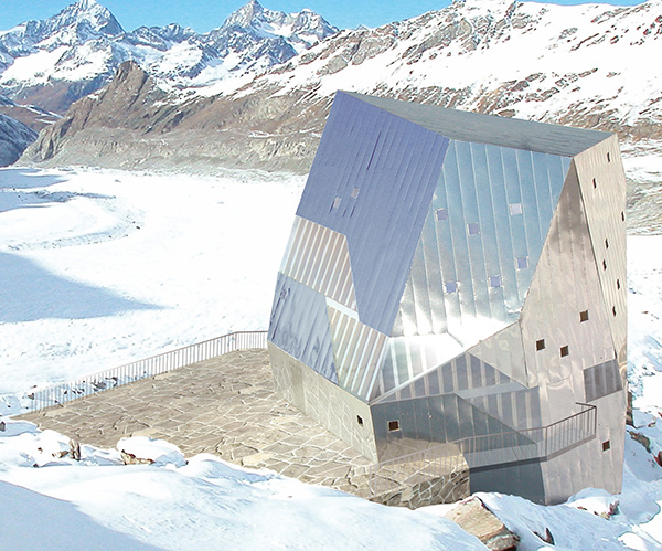monte rosa 2 Sustainable Mountain Hut Design in the Swiss Alps, Monte Rosa area