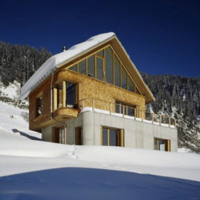 Mountain Cabin Design – Concrete and Wood Architecture