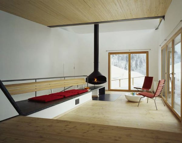 mountain chalet plan concrete and wood architecture 4 Mountain Cabin Design – Concrete and Wood Architecture