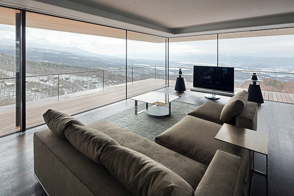 View In Gallery Mountain Home Glass Walls And Terrace Made For  Part 53