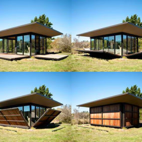 Moving Wall House Offers Privacy & Openness