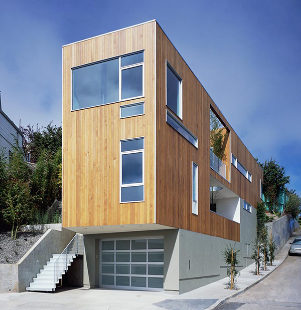 Narrow home designs slim tall and eco friendly in san for Narrow home designs