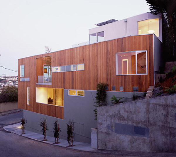 mullen street house 2 Narrow Home Designs   slim, tall and eco friendly in San Francisco