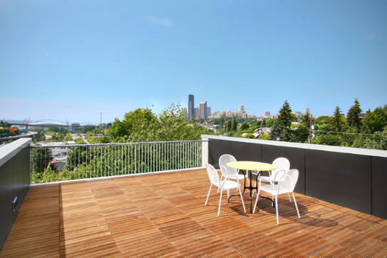 natural house design on seattle skyline 7 Contemporary Urban Home   rooftop patio in Seattle