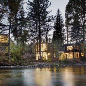 Natural Wood Clad Colorado Home Designed Around Existing Trees