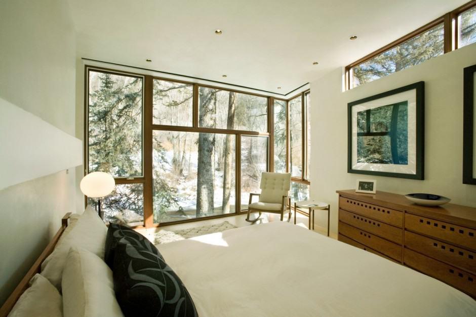 Natural Wood Clad Colorado Home Designed Around Existing Trees