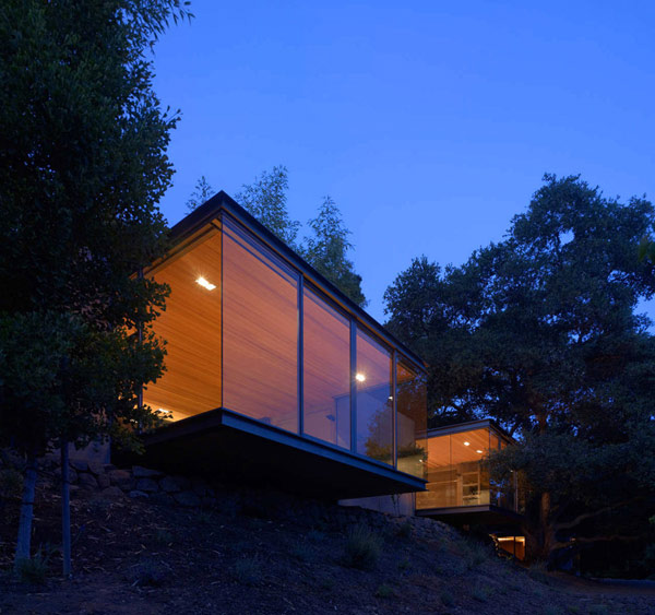 nature inspired tea houses 1 Nature Inspired Tea Houses Cantilevered Over the Valley