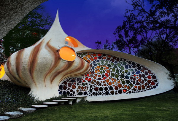 nautilus house 1 Whimsical House – Nautilus House in Mexico City