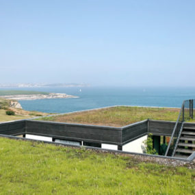 Modern Green Roof House Overlooks Bay of Biscay