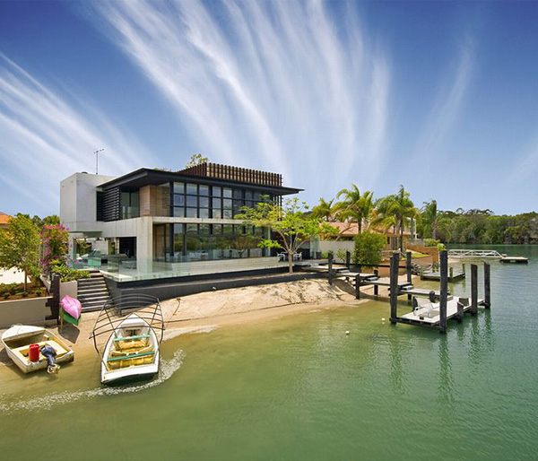 noosa house 1 Modern Luxury Home on Australia Sunshine Coast by architect Frank Macchia