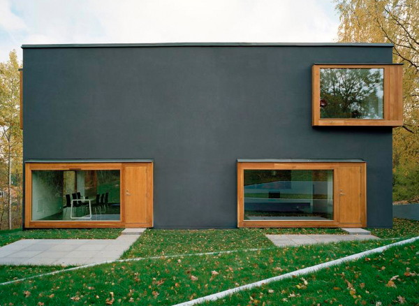 Contemporary scandinavian architecture four rooms make for Innovative home plans