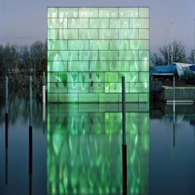 Light Architecture – LED House Illuminates Lake Constance in Switzerland