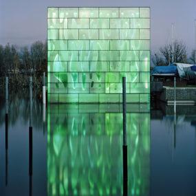 Light Architecture – LED House Illuminates Lake Constance in Switzerland